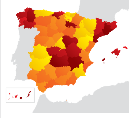 Provinces and Communities of Spain | Clipart
