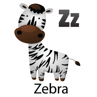 Animal Alphabet - Z for Zebra | Clipart