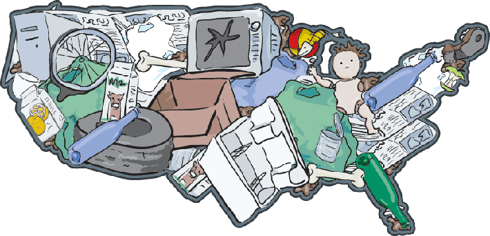 Landfill USA -  The Importance of Recycling | Clipart