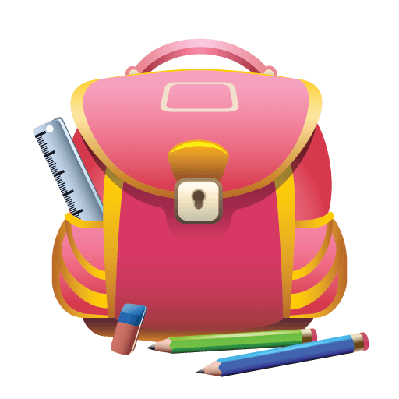 School Bag and Pencils | Clipart