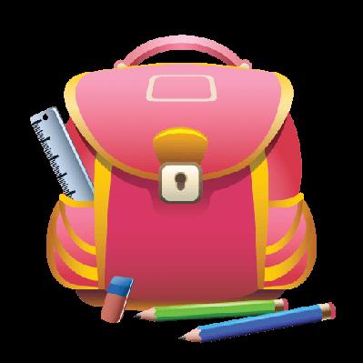 School Bag and Pencils | Clipart