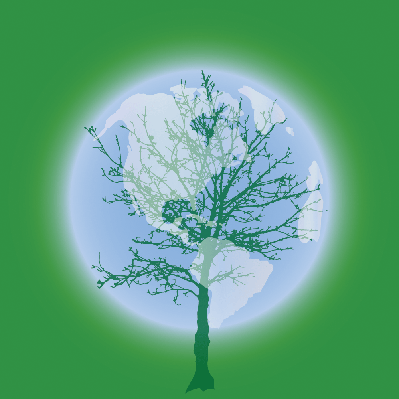 Silhouette of the Globe | Clipart