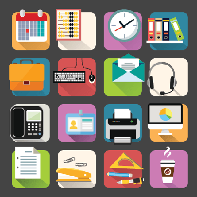Business Flat Icons Set | Clipart