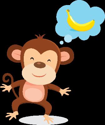 Monkey Thinking | Clipart