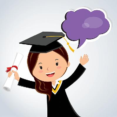 Young Woman Graduation Speech | Clipart
