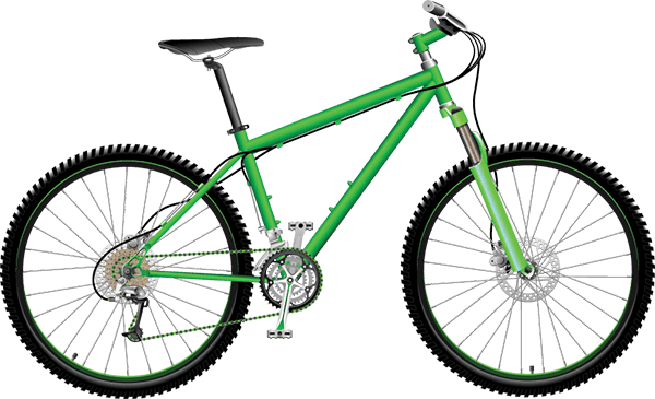 Bikes and Bicycles - Green Mountain Bike | Clipart