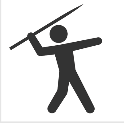 Athletics and Gymnastics Icon Set - Javelin Throw | Clipart