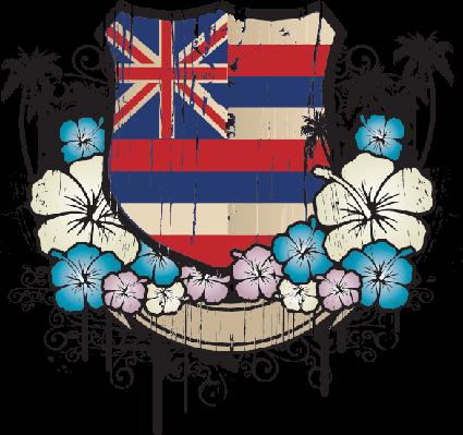 Hawaiian Flowers Emblem | Clipart