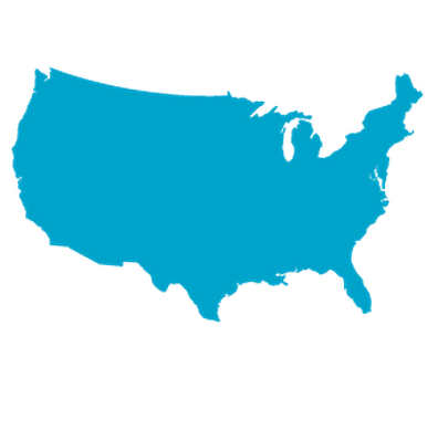 Colorful USA with individual states outlines | Clipart