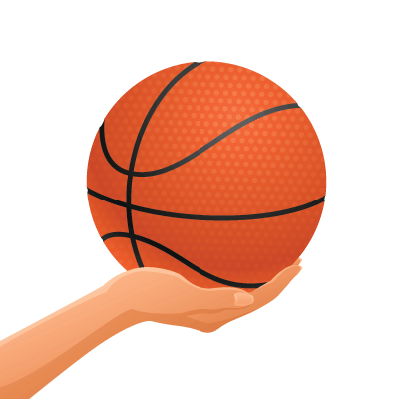 Hand Holding Basketball | Clipart