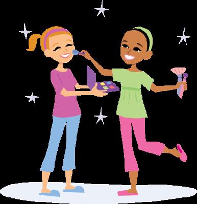 Cartoon Kids Playing | Clipart