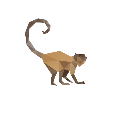 Monkey Abstract, Isolated on a White Background | Clipart