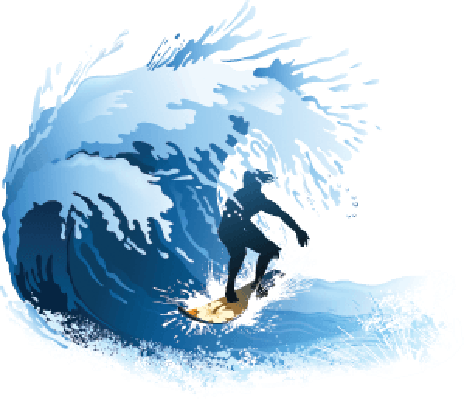 Surfing Wave | Clipart