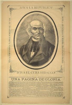 Father Miguel Hidalgo, Broadside, 1913, Mexico