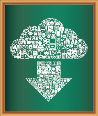 Education & Back to School Blackboard Collection: Cloud and Arrow | Clipart