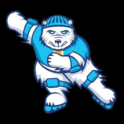 Bear Inline Skater   Clipart