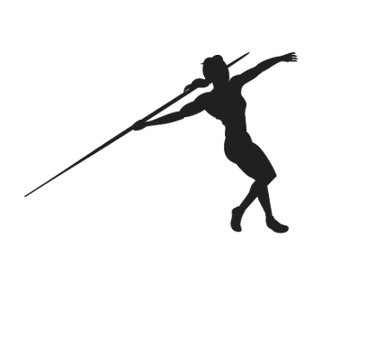 Women's Javelin - Withdrawal, B&W | Clipart