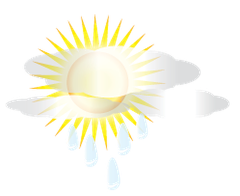 Weather - Sun and Rain Clouds | Clipart