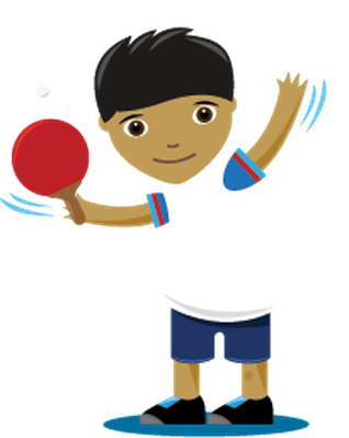 Children Playing Sports - Table Tennis, Boy | Clipart