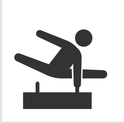 Athletics and Gymnastics Icon Set - Pommel Horse | Clipart