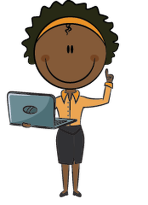 Business Lady with Laptop | Clipart