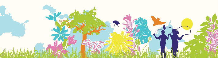 Children Playing in Field | Clipart