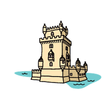 Landmarks - Belém Tower | Clipart
