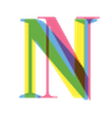 Four-Color Alphabet Letters - N | Clipart