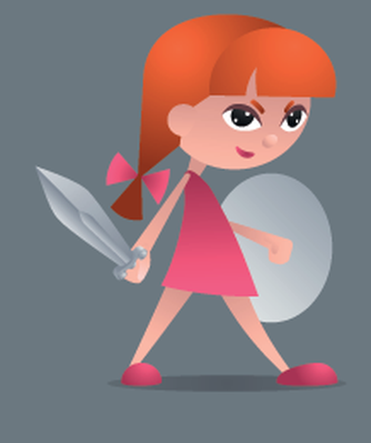 Brave Little Knight   Clipart