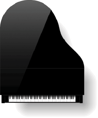 Black Grand Piano: Top View | Clipart