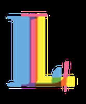 Four-Color Alphabet Letters - L | Clipart