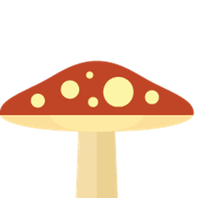 Autumn | Flat Color Icons - Mushroom | Clipart