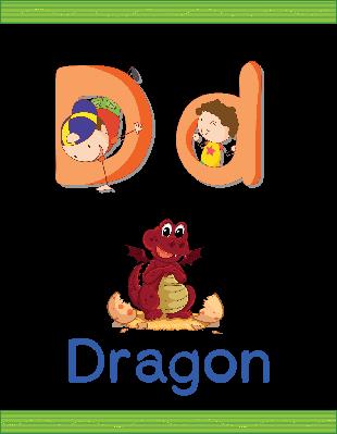 Alphabet Worksheets - D for Dragon | Clipart