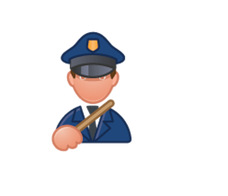 Professions - Color - Police Officer | Clipart