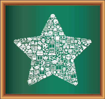 Education & Back to School Blackboard Collection: Star   Clipart
