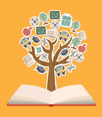 School Symbols - Learning Tree 2 | Clipart