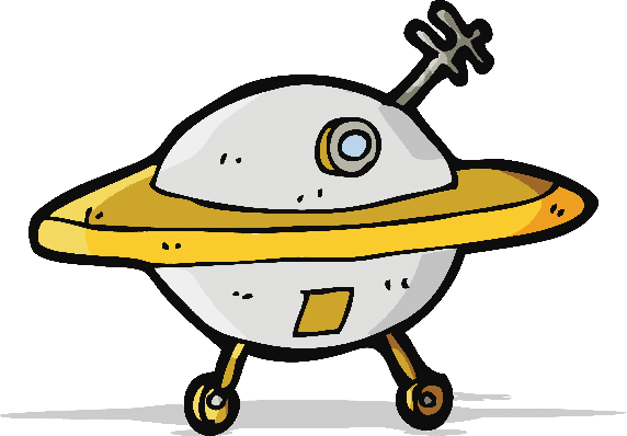 Cartoon Flying Saucer | Clipart