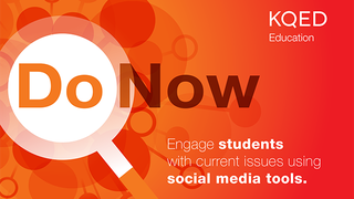Do Now: Explore Current Issues Using Social Media