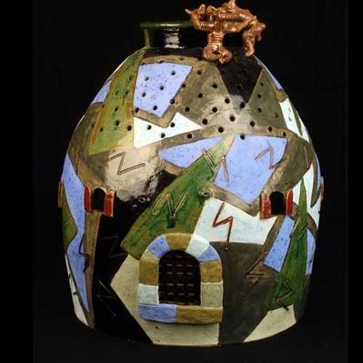 Stoneware of daniel in the lion's den by Wayne Ferguson, 1985