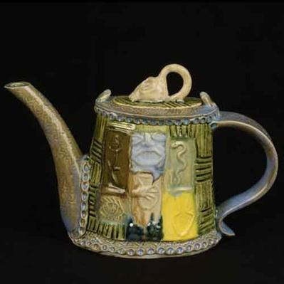 Stoneware tea set by Wayne Ferguson, 2004