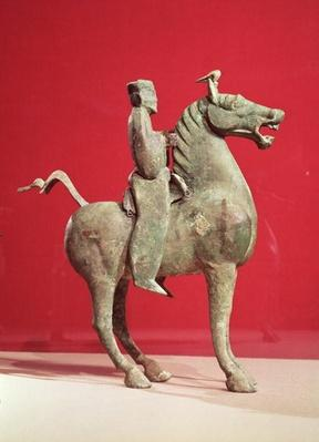 Man on horseback, from Wu-wei, Kansu, Eastern Han Dynasty (bronze)