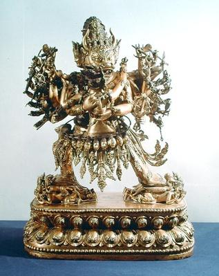 Vajrabhairava, aspect of Yamantaka, the guardian of law, Qing Dynasty, 17th-18th century (bronze)