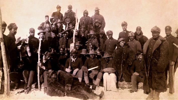 Photograph of the buffalo soldiers in the 1880's