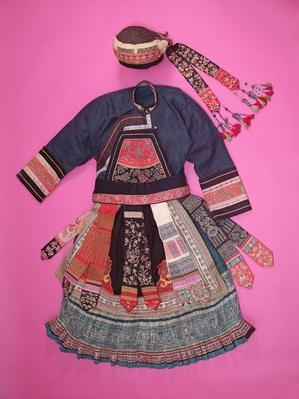 Woman's Dress and Basketry Hat, Ch'uan Miao (textile)