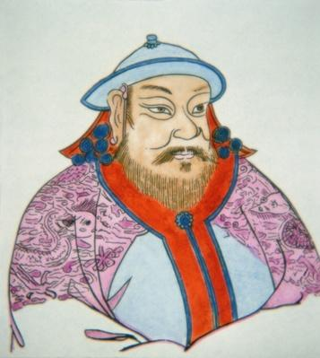 Kublai Khan (coloured ink on paper)