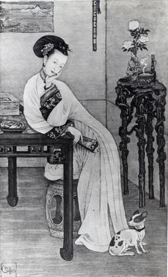 Empress Dow ager Cixi (litho)
