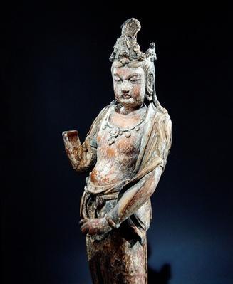 Standing Kuan-yin, Yuan Dynasty (1206-1368), 1282 (wood)