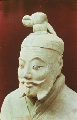 Head of a warrior, Terracotta Army, Qin Dynasty, 210 BC