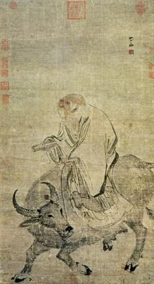 Lao-tzu (c. 604-531 BC) riding his ox, Chinese, Ming Dynasty (1368-1644)