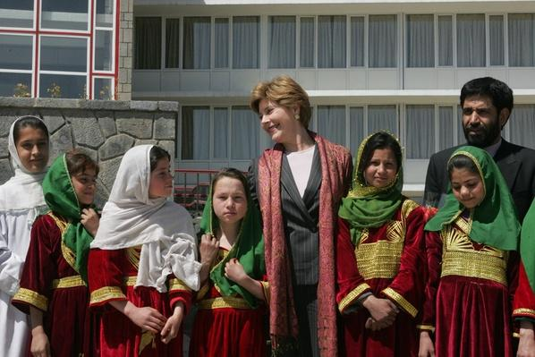 First Lady Laura Bush, Kabul, 2005
